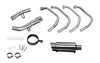 """Full System to fit GSX1250FA Traveller (2010-2016) with Mini 8"""" Stainless Steel Round Muffler and Stainless Steel 4-1 Headers"""