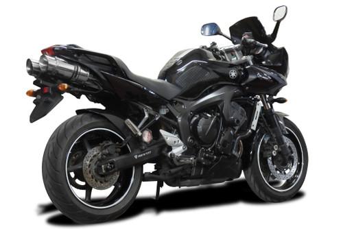 Yamaha FZ6 8 Mini Carbon Round Muffler Exhaust Slip On 04 05 06 07 08 09 10