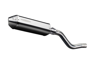 "Kawasaki KLR650 Delkevic Slip On SS70 9/"" Stainless Oval Muffler Exhaust 87-19"