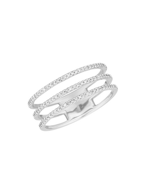 AReyter Triple Band Pave Ring W14