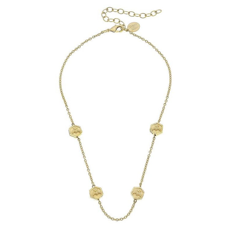 SS NK Gld Bee beads on chain
