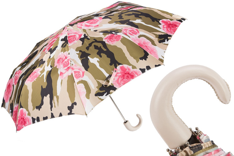 Pasotti Umbrella Camoflage with Roses Folding