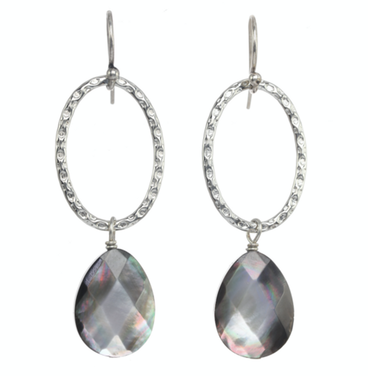 a.v. max Hammered Oval Earring