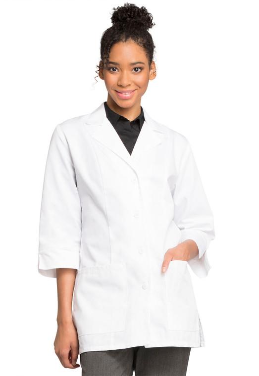 """30"""" Cherokee Women's 3/4 Sleeve Lab Coat 1470"""