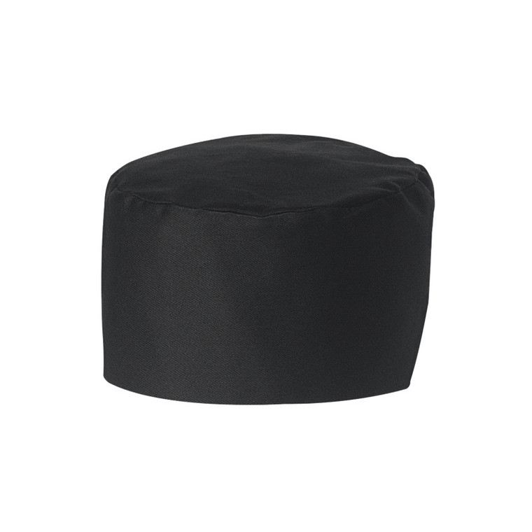 Bakers Cap, Black (6 Pack), 100% Cotton Twill