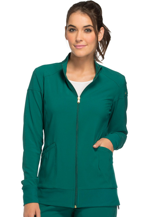 Cherokee iFlex Women's Zip Front Warm-up Scrub Jacket CK303