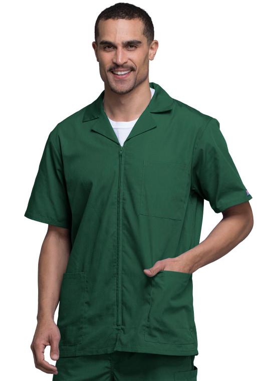Cherokee Workwear Originals Men's Zip Front Scrub Top 4300