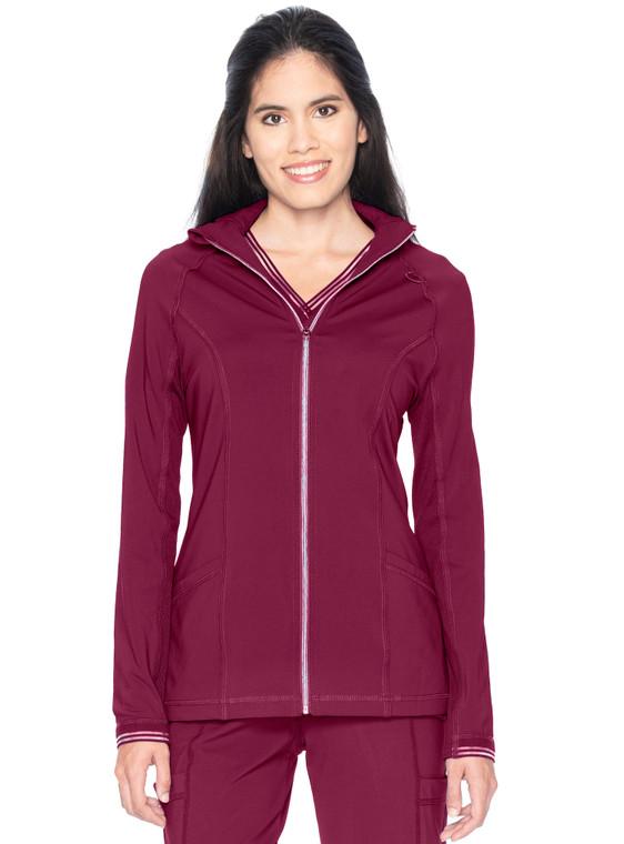 Urbane Impulse Women's Extreme Stretch Zipper Front Jacket 9742