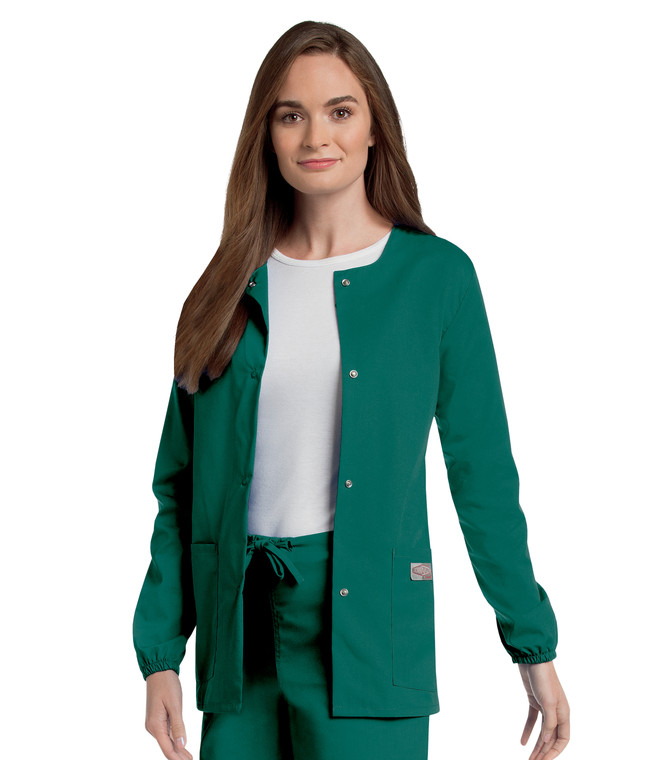 Scrub Zone Women's Warm Up Solid Scrub Jacket 75221