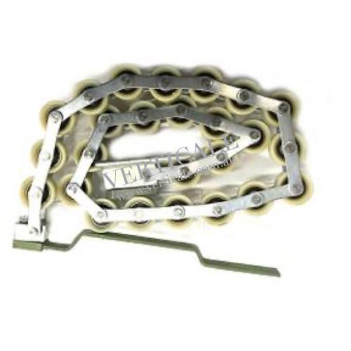 KONE Newel Roller Chain - 25 rollers return guide