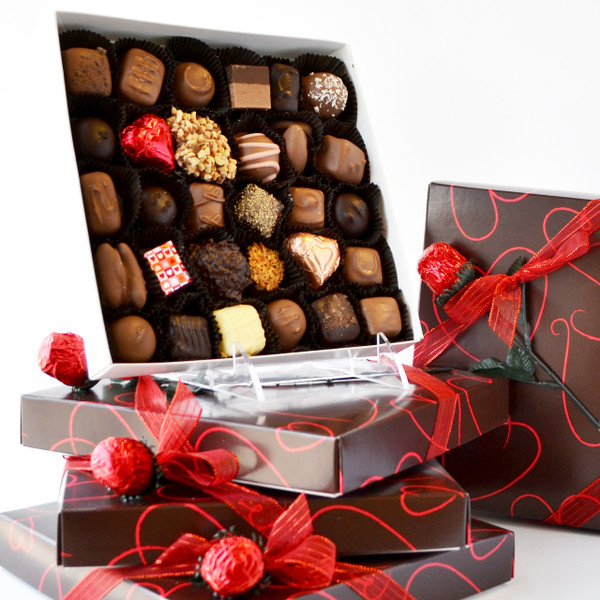 Valentine's Day Special Assortment (1lb) with Rose