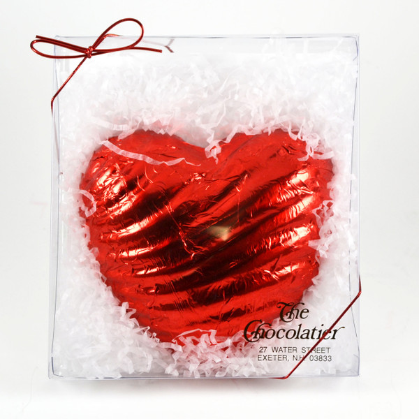 Red Foiled Chocolate Heart