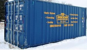20 foot portable storage container, at J R Bruender in Eagle Lake.