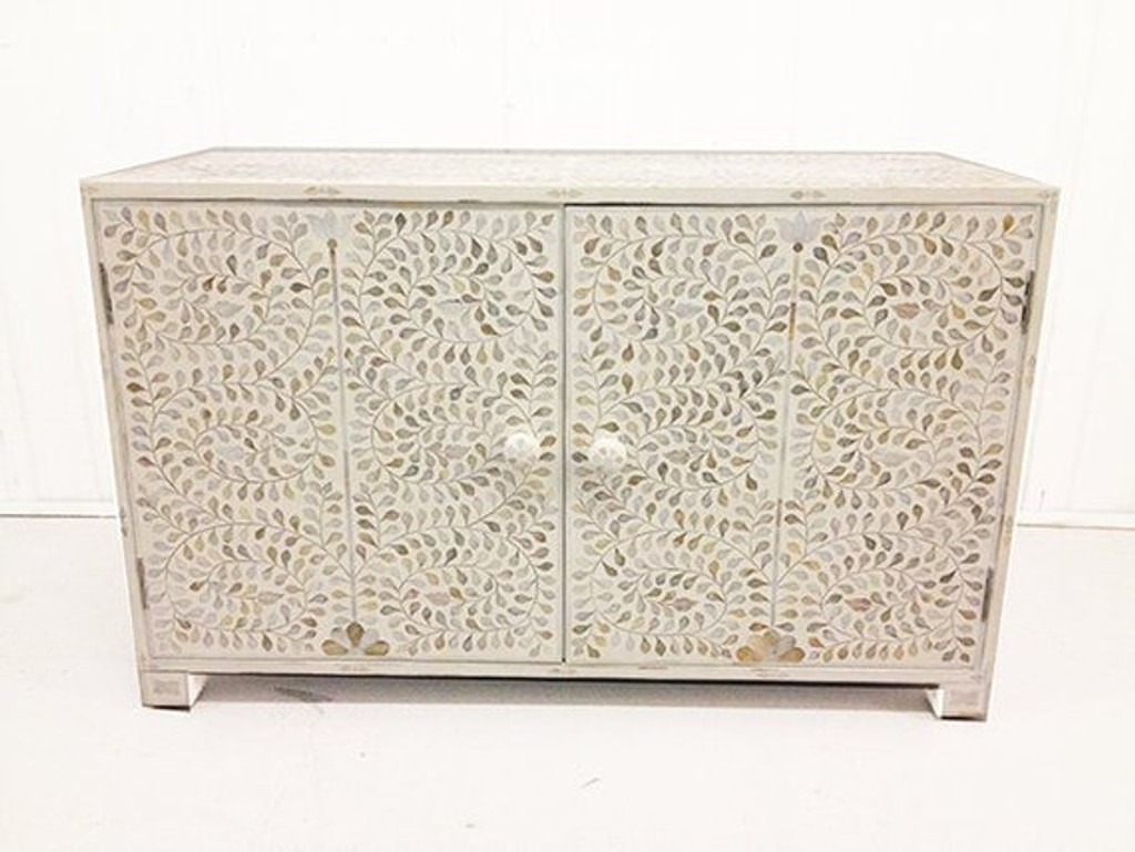 White Mother of Pearl Sideboard