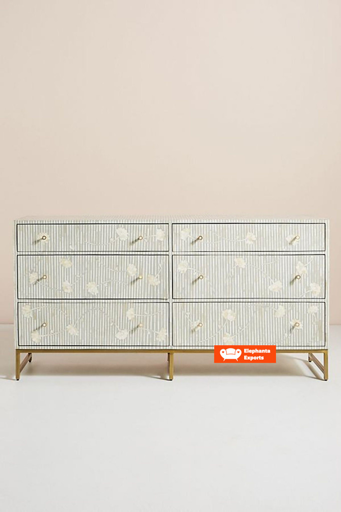 Lily Chest of 6 Drawers in Grey
