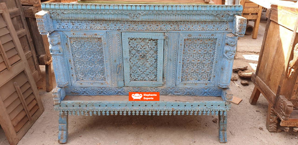 Vintage Dhamchiya Console Table