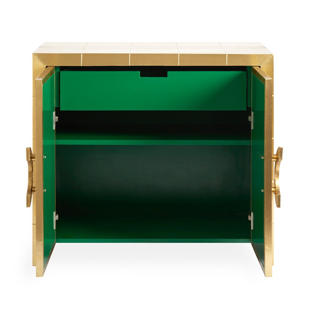 Brass plated Wooden Cabinet