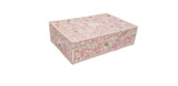 Handmade Floral Design Mother of Pearl Inlay Vanity Box in Pink