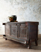 Old Reclaimed Indian Dhamchiya / Hope Chest / Indian Chest of Drawers