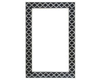Moroccan Bone Inlay Mirror in Black