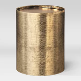 Brass Drum Accent Table