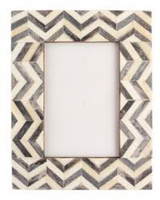 Chevron Coloured Bone Inlay Photo Frame