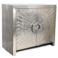 German Silver plated Wooden Cabinet