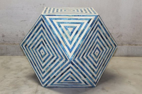 Diamond Bone Inlay Seating/Stool