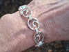 heavy crashing wave bracelet in solid sterling with swivel clasp