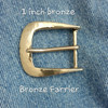 The Farrier Square buckle for 1 inch belts in bronze with a hammer textured, satin finish and no patina.