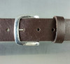 """""""The Explorer"""" Buckle  for 1.5 inch (38 mm) in Sterling Silver with Hammered Texture front view"""