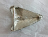 Sharks Tooth Buckle For 1.5 Inch Belts White Bronze