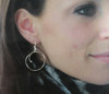Hoop Earring Quarter Spiral Reverse Loop Top In Sterling Silver 1.5 inches (40 mm)