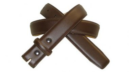 Dark Brown 1.25 Inch Belt Genuine Leather with Stitching