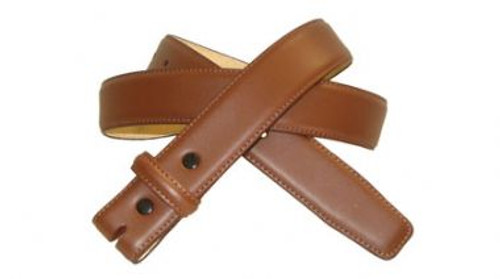 Saddle Tan Brown 1.25 Inch Belt Genuine Leather with Stitching