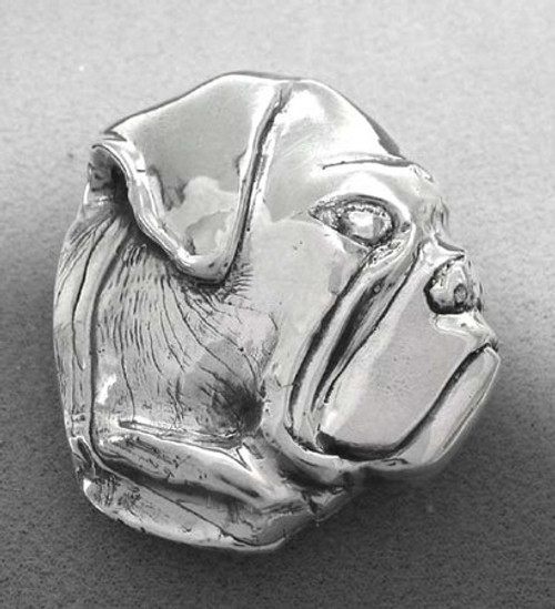 Bull Dog Buckle in sterling silver for 1 .25 belts