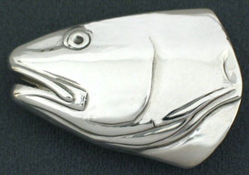 Red fish buckle in sterling