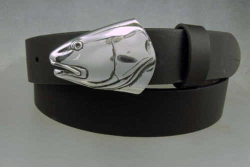 silver redfish buckle on a 1 .25 in belt.  Sold seperately