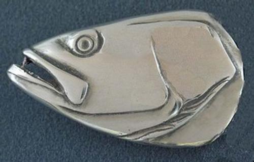 Sea Trout  portrait in sterling