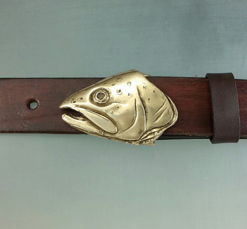 Trout Fish Belt Buckle in Bronze