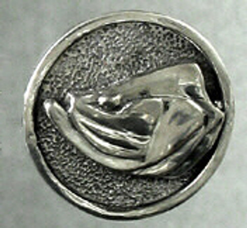 Tarpon Fish Ball Spotter Heads and Tails Coin in Sterling Silver