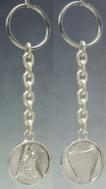 Trout Fish Heads and Tails Key Chain in Sterling Silver