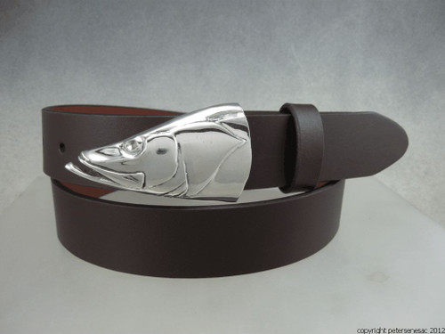 snook buckle in sterling Belt sold seperately