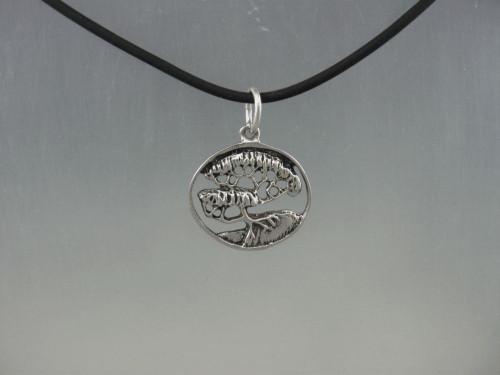 Old cyprss tree pendant in sterling