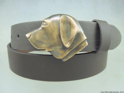 Labrador retriever belt buckle in Bronze with brown patina