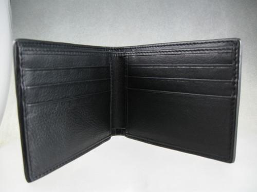 Inside view of bifold wallet