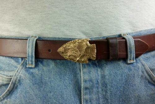 Arrowhead Belt Buckle in Bronze