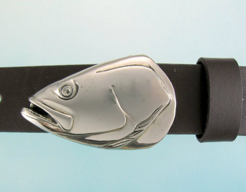 Sea Trout buckle in White Bronze