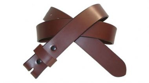 Brown cow hide belt with snap