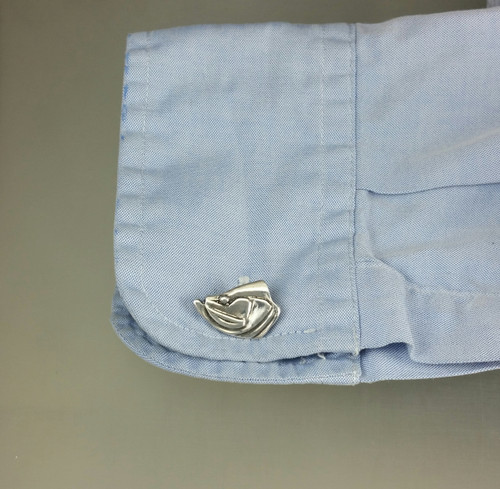 Tarpon Heads and Tails Cuff links are solid sterling including the toggle. Great for the dressed up fisherman.
